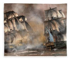 Pirate Battle Fleece Blanket