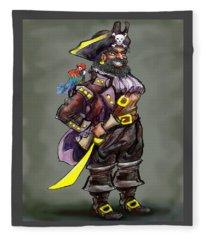 Pirate Captain Fleece Blanket