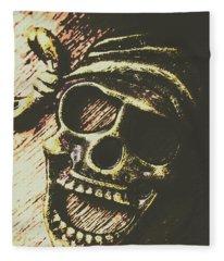 Pirate Metal Fleece Blanket