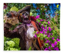 Pirate Skeleton Drinking Fleece Blanket
