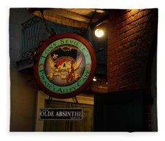 Pirates Alley Cafe Sign Fleece Blanket