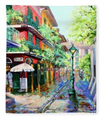 Pirates Alley - French Quarter Alley Fleece Blanket