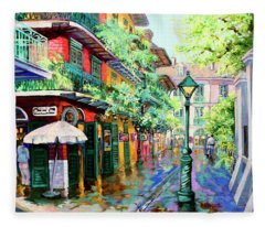 Pirates Alley - French Quarter Alley Fleece Blanket