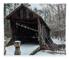 Pisgah Covered Bridge - Modern Fleece Blanket