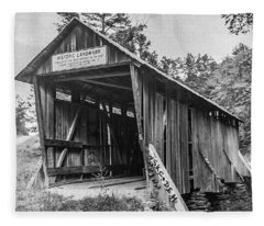 Pisgah Covered Bridge No. 1 Fleece Blanket