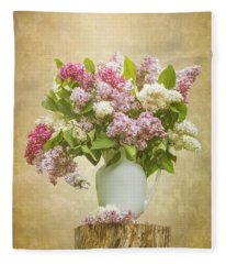 Pitcher Of Lilacs Fleece Blanket