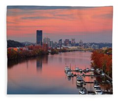 Pittsburgh 31st Street Bridge  Fleece Blanket