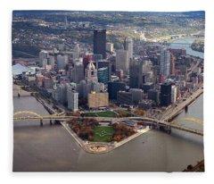 Pittsburgh 8 In Color  Fleece Blanket