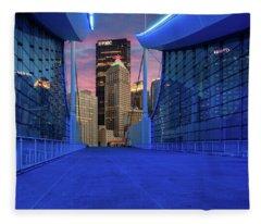 Pittsburgh In Blue  Fleece Blanket