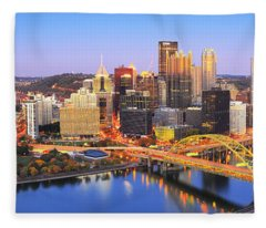 Pittsburgh Pano 22 Fleece Blanket
