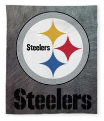 Pittsburgh Steelers On An Abraded Steel Texture Fleece Blanket