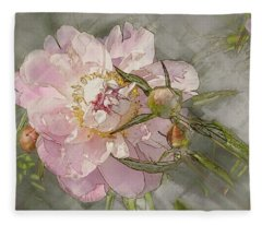 Pivoine Fleece Blanket