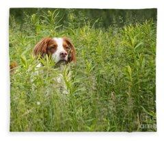Pixel In Grass Fleece Blanket