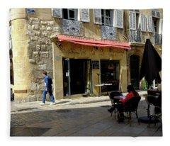 Place De Hotel De Ville Aix Fleece Blanket