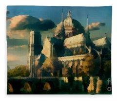 Places Angels Dwell Painted In Bleak Fleece Blanket