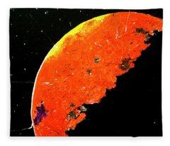Planet Mars Fleece Blanket