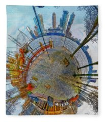 Planet Rotterdam Fleece Blanket