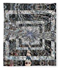 Plant Energy Kaleidoscope Fleece Blanket