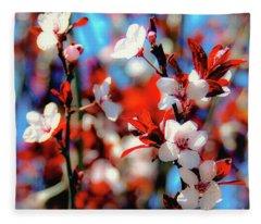 Plants And Flowers Fleece Blanket