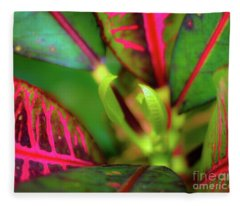 Plants In Hawaii Fleece Blanket
