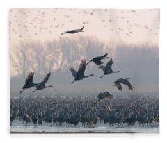 Platte River Morn Fleece Blanket