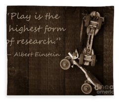 Play Is The Highest Form Of Research. Albert Einstein  Fleece Blanket