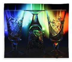 Play Of Glass And Colors Fleece Blanket