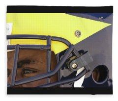 Player In Winged Helmet Fleece Blanket