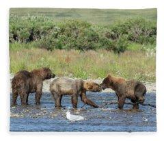 Playful Cubs Fleece Blanket