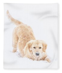 Playful Puppy Fleece Blanket