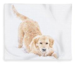 Playful Puppy Fleece Blanket