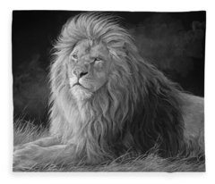 Pleasant Breeze - Black And White Fleece Blanket