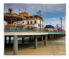 Pleasure Pier Fleece Blanket