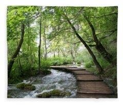 Plitvice Lakes National Park Fleece Blanket