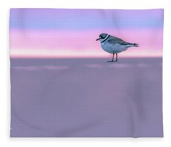 Plover At Sunrise Fleece Blanket