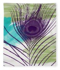 Plumage 2-art By Linda Woods Fleece Blanket