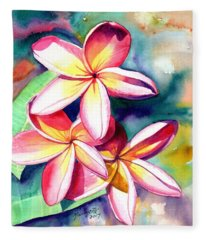Plumeria Garden 2 Fleece Blanket