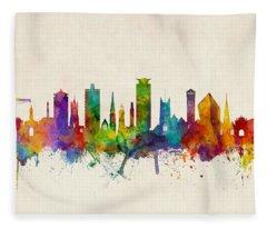 Plymouth England Skyline Fleece Blanket