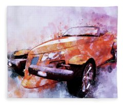 Plymouth Prowler Being All She Can Be Fleece Blanket