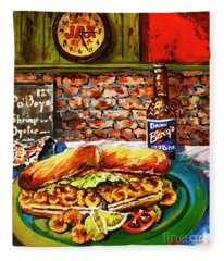 Po'boy Time Fleece Blanket