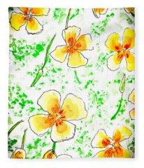 Pocket Full Of Poppies Fleece Blanket