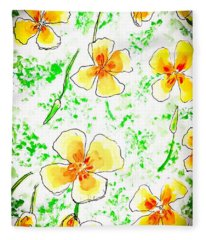 Pocket Full Of Poppies Fleece Blanket