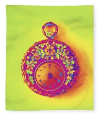 Pocket Watch 1830 Fleece Blanket
