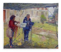 Poetry And Violin Fleece Blanket