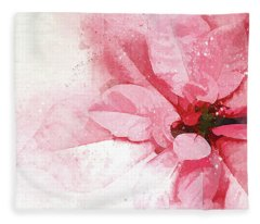 Poinsettia Abstract Fleece Blanket