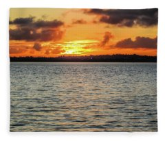 Point Chevalier Beach, Auckland, New Zealand Fleece Blanket