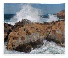 Point Lobos' Concretions Fleece Blanket