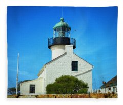 Point Loma Lighthouse - San Diego Fleece Blanket