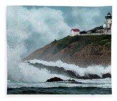 Point San Luis Lighthouse Fleece Blanket