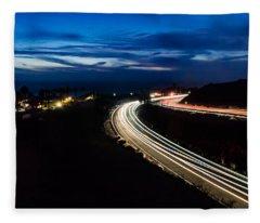 Point Vincente Light Trails Fleece Blanket